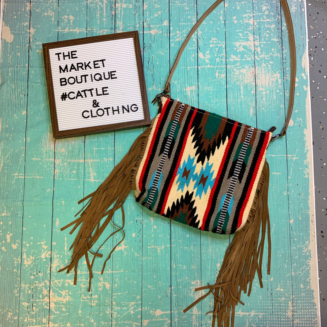Saddle Blanket Bag with Fringe