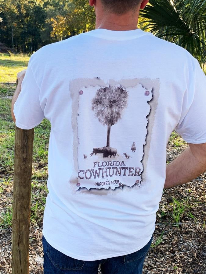 The Cow Hunter Pocket Tee - White