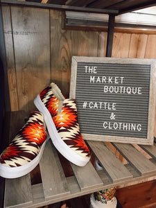 Lil Western Aztec Slip on shoes