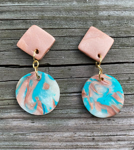 Clay Dangle Earrings - Arizona Skies