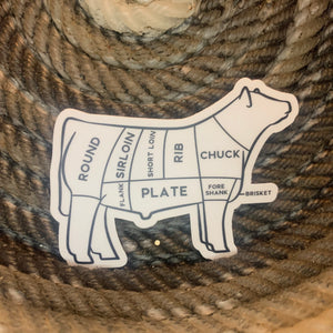 BEEF Cuts sticker