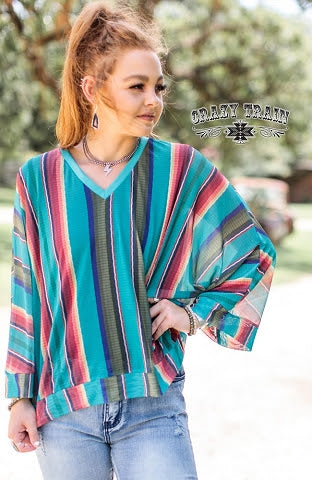 Rancher Wife Serape Top - Curvy