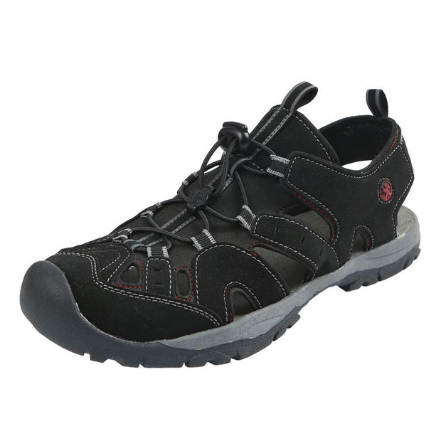 Northside Mens Burke II Athletic Sandal - black/red