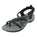 Northside Womens Covina Open-Toe Sport Sandal - Black/Gray