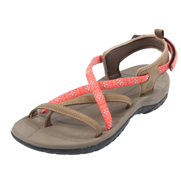 Northside Womens Covina Open-Toe Sport Sandal - Tan/Coral