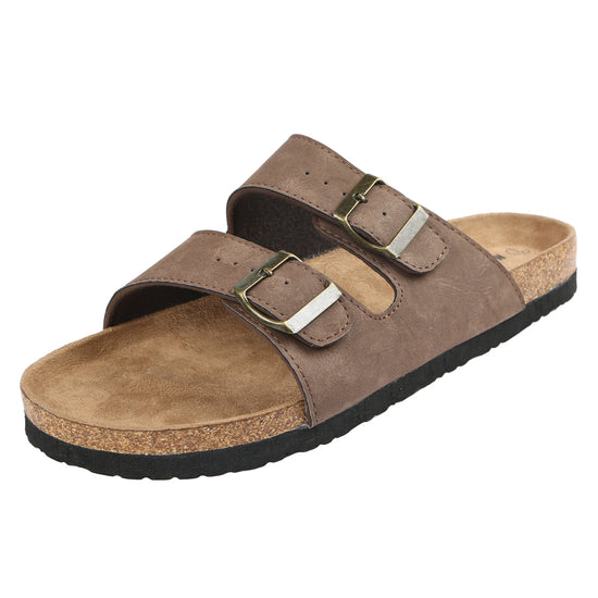 Northside Mens Phoenix Cork Suede Sandals - Coffee