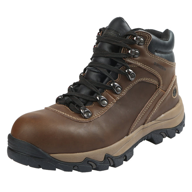 Northside Mens Apex Mid Waterproof Hiking Leather Boot - Brown