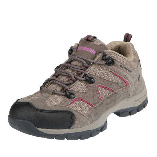 Northside Womens Snohomish Low Waterproof Hiking Shoe - Stone/Berry