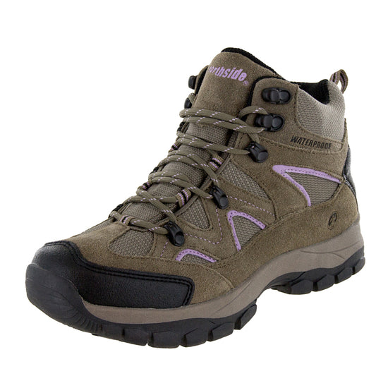 Northside Womens Snohomish Waterproof Hiking Boot - Tan/Periwinkle