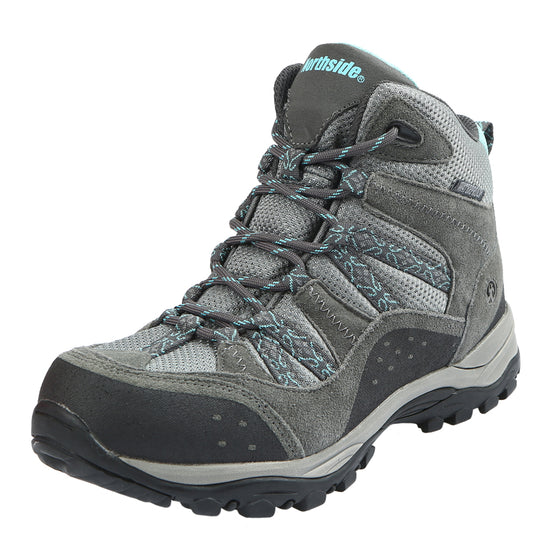 Northside Womens Freemont Waterproof Hiking Boot - Gray/Aqua