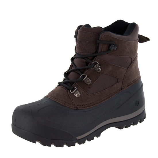 Northside Mens Tundra Lace-Up Cold-Weather - Chocolate