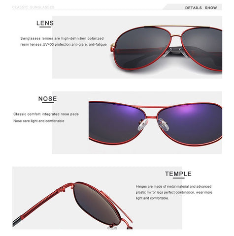 OLEY Classic brand pilot polarized sunglasses men