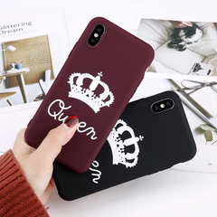 TPU King and Queen Couples Matching Phone Cases for iPhone