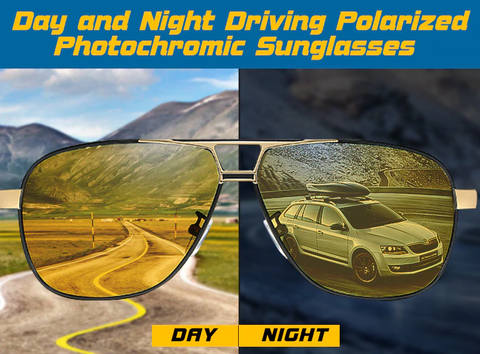 Polarized Photochromic Driving Sunglasses For Men and Women With Night Vision