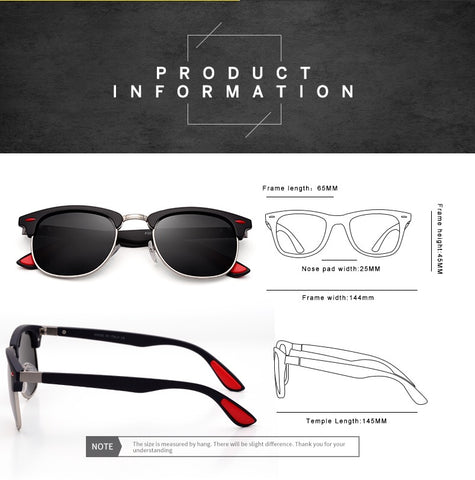 Polarized Unisex Sunglasses with UV400 Protection
