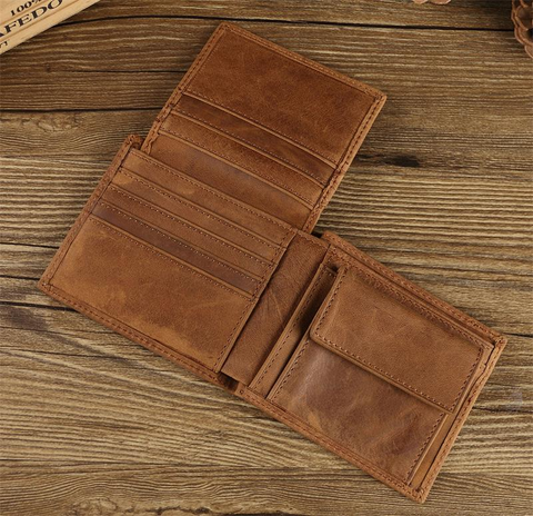 Bifold Full Grain Leathet Wallet For Men- With an Extend