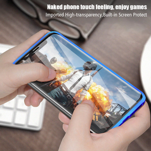 Privacy Metal Magnetic Anti-peep Phone Case For Samsung