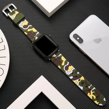 Load image into Gallery viewer, Camouflage Apple Watch Silicone-Rubber Band