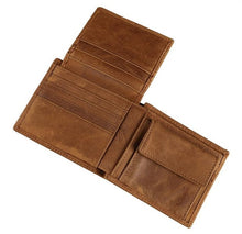 Load image into Gallery viewer, Bifold Full Grain Leather Wallet For Men
