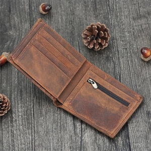 Bifold Full Grain Leather Wallet For Men