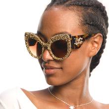 Load image into Gallery viewer, Oversized Vintage Bling Cat Eye Sunglasses For Women