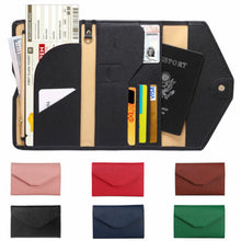 Load image into Gallery viewer, RFID Blocking Passport Holder/ Travel Wallet