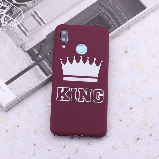 King and Queen Crowns Candy Silicone Phone Case Cover For Huawei Phones