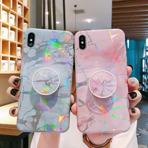 Marble Holographic iPhone Case