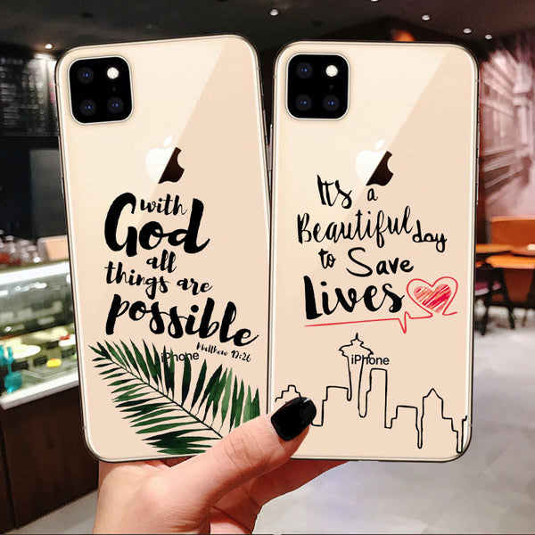 Optimists Clear Silicone Case For iPhone
