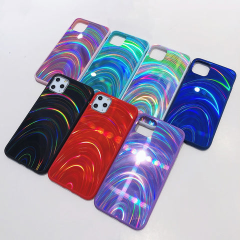 Rainbow Holographic Iphone case