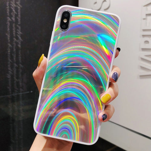 3D Rainbow Holo Prism For iPhone
