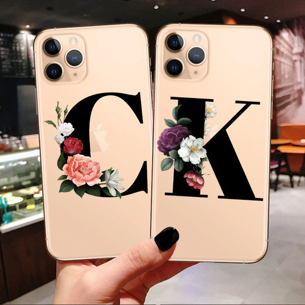 Custom Initial New Phone Case For iPhone 11 Pro Max Supports Wireless charging