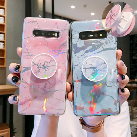 Marble Holographic Samsung Phone Case
