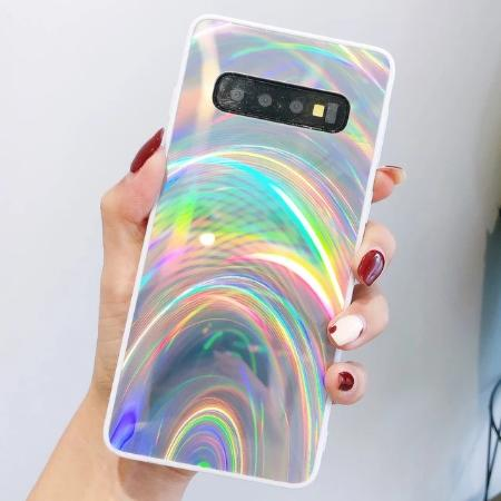 3D Holographic Prism Laser Rainbow Glitter Phone Case for Samsung Note 10 S10 S9 S8+  A7 2018 A50 A70 J6 J8 2018