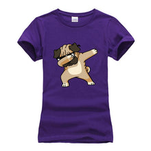 Load image into Gallery viewer, Dabbing Pug T-Shirt For Women short sleeve