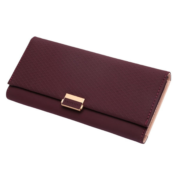 Woman Clutch Plaid Wallet