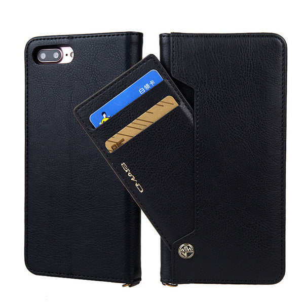 Luxury Magnetic Flip PU Leather Case For iPhone 6 6S 7 8 Plus X XS XR XS Max Case Wallet With Standard Card Slots