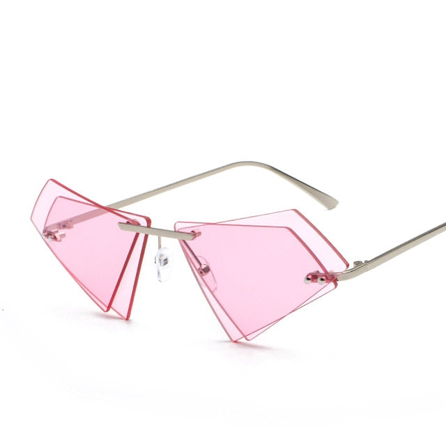 Vintage Triange Double lens Sunglasses for Women
