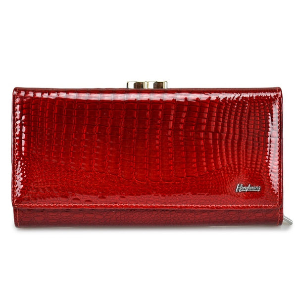 Genuine Leather Alligator Pattern women wallet 2019