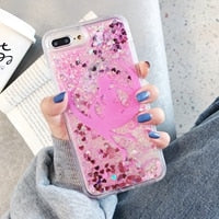 Sailor Moon Glitter Star Flowing Quicksand Liquid Case for iPhone