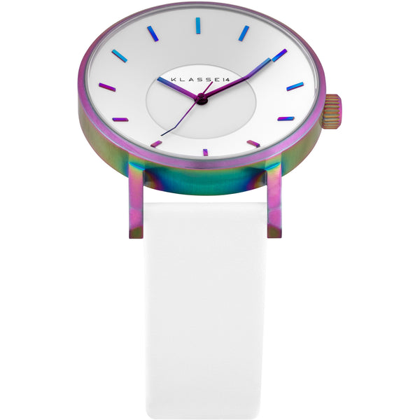VOLARE RAINBOW White Leather 42MM