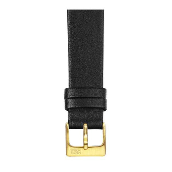 VOLARE Black Strap with Gold Buckle 36MM