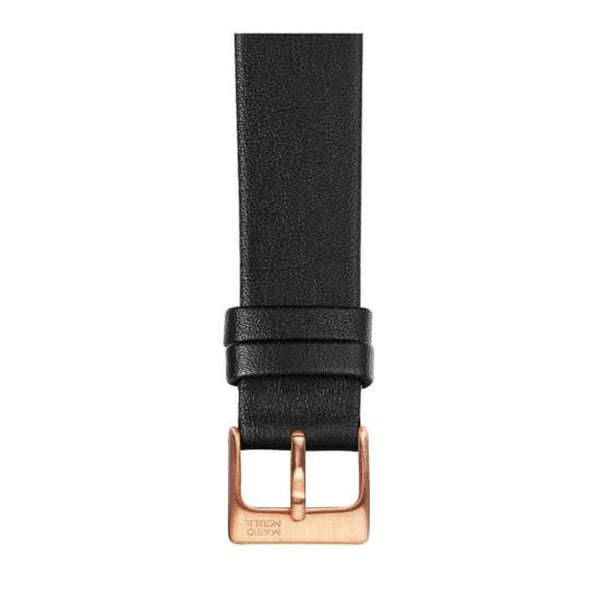 VOLARE Black Strap with Rose Gold Buckle 36MM
