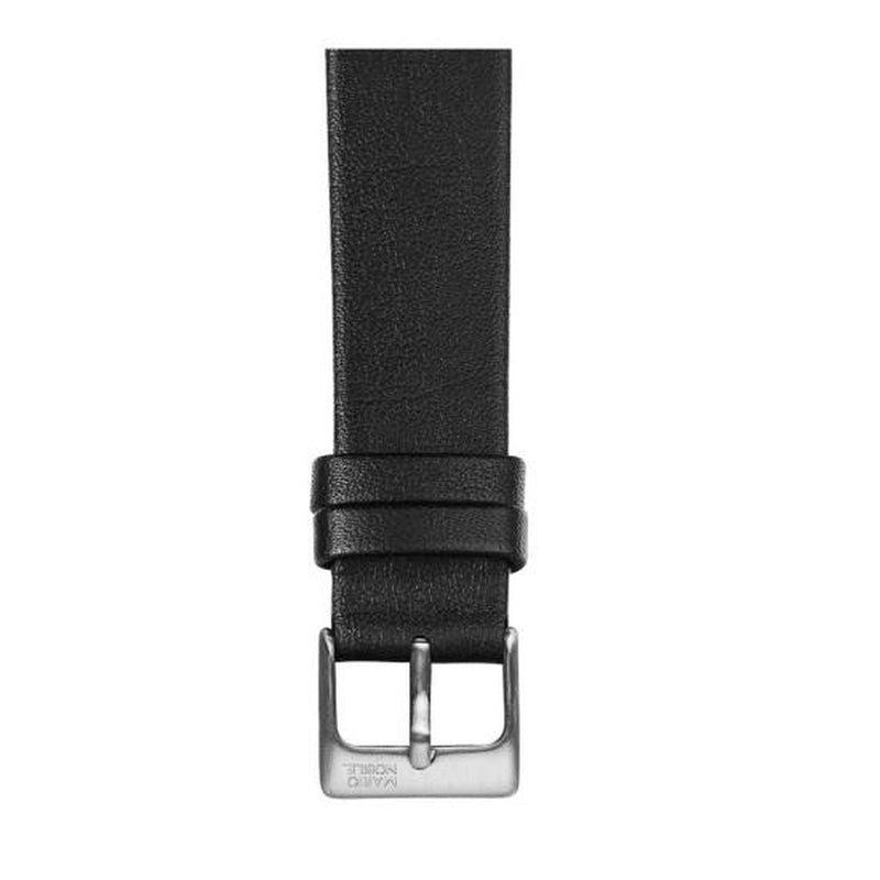 VOLARE Black Strap with Silver Buckle 36MM