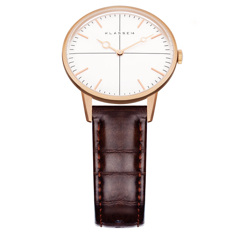 Disco Volante Rose Gold/Brown Leather 36MM