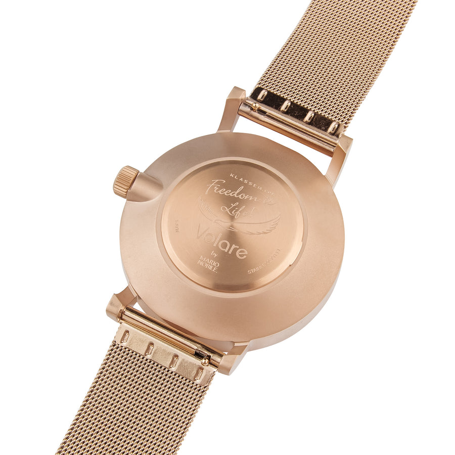 VOLARE Dark Rose/Rose Gold Mesh 42MM