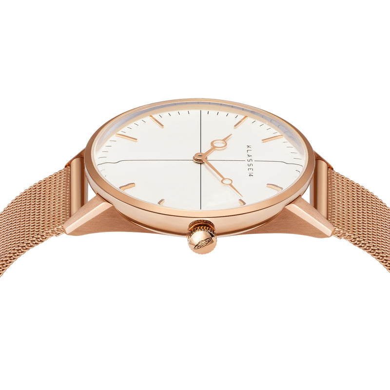 Disco Volante Rose Gold Mesh 36MM