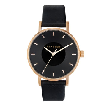 VOLARE Dark Rose/Black Leather 36MM
