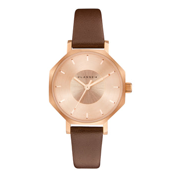 OKTO Rose Gold Brown 28MM