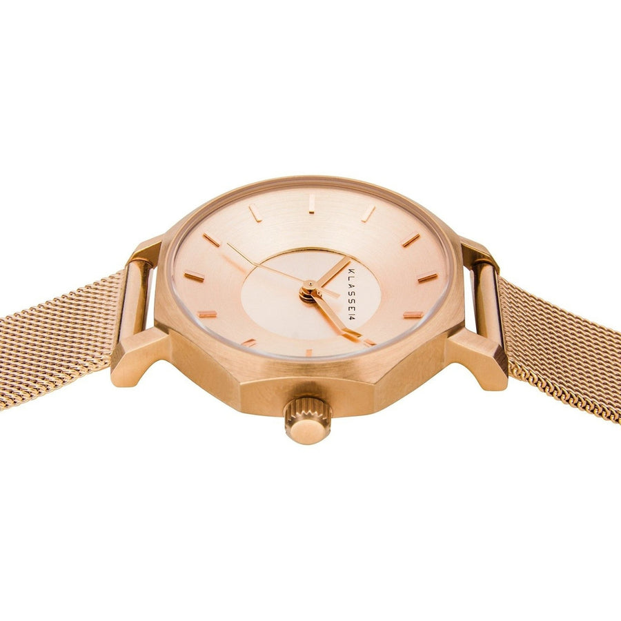 OKTO Rose Gold Mesh 28MM